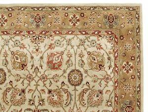 PB Design Brant Beige Floral Handmade Wool Area Rug