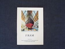 bk Fram - published by The Committee for the Preservation of the Polar Ship Fram