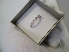 Sapphire Round Sterling Silver Fine Diamond Rings