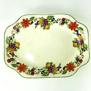 """Steubenville Floral Harvest Serving Platter 12.5"""" x 9.5"""" Vintage Thanksgiving"""