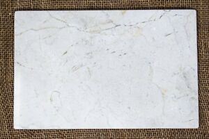 "Beige Marble 8"" x 12"" Cheese Tray Pastry Board/Cutting Board, Natural Stone Tray"