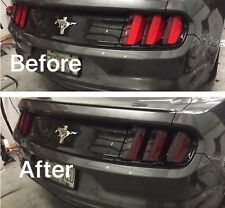 2015-2017 FORD MUSTANG TAIL LIGHT PRECUT TINT COVER SMOKED OVERLAYS