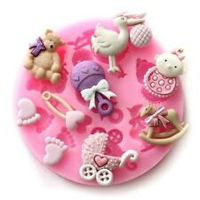 Baby Assortment 9 Cavities Silicone Mold for Fondant Cake Decorating - NEW
