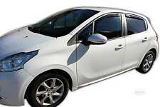 DPE26147 Wind Deflectors PEUGEOT 208 5 DOOR HATCHBACK 2012-up 4 pcs HEKO Tinted