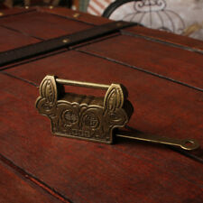 Rabbit Design Bronze Metal Lock Old Chinese Padlock Drawer Jewelry Box  P