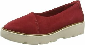 Clarks Ladies Smart Casual Shoes BALSA GO Red Suede UK 6 / 39.5 RRP £60