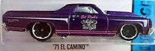 Hot Wheels 2015 HW City '71 El Camino Purple Ed Pink Garage Chevy Truck CFL22