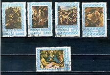 Panama 1967 part set of  five stamps- religious paintings  used