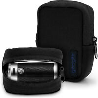 Black Neoprene Zipper Carrying Travel Case Cover for Digital Compact Cameras