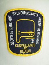 Societe De Transport De La Communaute Urbaine De Montreal Surveillance Patch