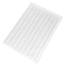 5 Pack A4 Analysis Pads 8 Column 54 Row 80 Sheet Paper Office Cash Notepads Set