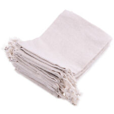 "10x Natural Linen Burlap Jute Drawstring Pouch Gift Bags Wedding Favor Sack 6x4"""