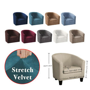 Stretch Velvet 1-Seater Sofa Cover Couch Slipcover Protector Anti-