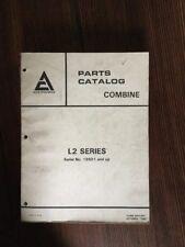 AC Original 1980 ALLIS CHALMERS L2 Series Combine Parts Catalog