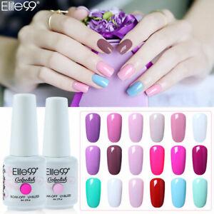 Elite99 Color Gel Nail Polish Top Base Coat Lacquer UV LED Manicure 8ML Varnish