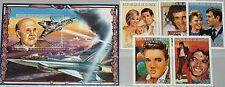 GUINEA 1986 1128-32 Block 234 A 1011-1016 Charles & Diana Elvis Presley Jackson