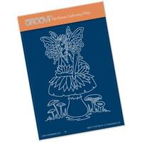 Clarity Stamps Groovi Parchment Embossing A6 Plate - Fairy 1