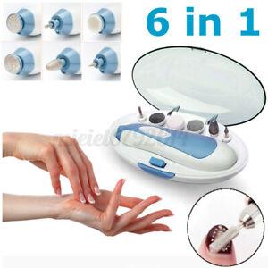 6 in 1 Electric Nail File Art Drill File Tools Pro Manicure Pedicure Machine Kit