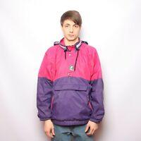 Vintage K-Way 2000 Mens Rain Jacket Cagoule Anorak Kangaroo Pocket Size M
