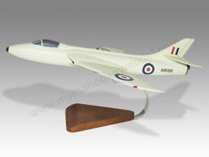 Hawker Hunter GA.11 RAF Solid Mahogany Wood Replica Airplane Desktop Model