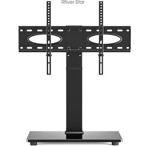 """Tabletop TV Stand  Base For 32-70"""" TVs Height adjustable Swivel Mount"""