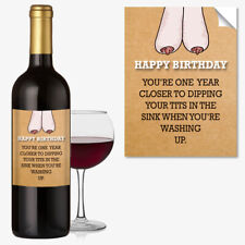 BIRTHDAY WINE BOTTLE LABEL OCCASION GIFT Funny Idea MUM #1042