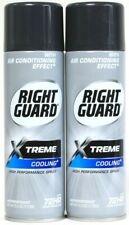 2 Ct Right Guard 6 Oz Xtreme Cooling 72Hr High Performance Antiperspirant Spray