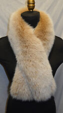 Real  Fox Fur Scarf  Collar Snow Top Blush Wrap Stole Fling New Made in the USA