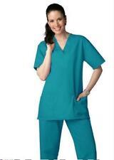 Scrub Set Xl Teal V Neck Top Drawstring Pants Unisex Medical Uniforms 2 Piece