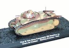 Char B 1bis Chars de Combat Bienfay France 1940 1:72 Réservoir Altaya Diecast