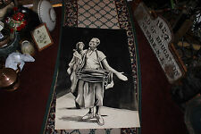 Superb Keith Lewin Black & White Painting-Man Playing Bongo Drum-Angry Wife-Lge.