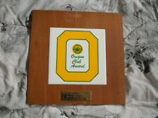 >Old 1973 University of Oregon Ducks *OREGON CLUB AWARD* Vintage TILE Plaque