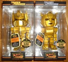 Funko Hikari TRANSFORMERS 24k GOLD OPTIMUS PRIME & BUMBLEBEE LE 600 SET