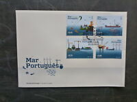 PORTUGAL 2015 PORTUGESE SEAS SET 4 STAMPS FDC FIRST DAY COVER