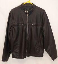SF/415 Stylish Leather Jacket Black Men's Size Medium