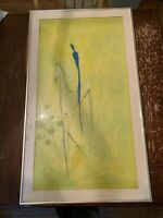 Vintage Large Framed Man on Horse Abstract Print