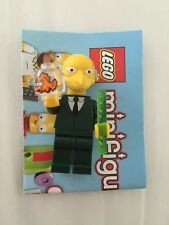 LEGO The Simpsons Mr. Montgomery Burns Minifigure with Fish and Rod