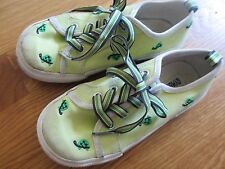 2 Pairs Girl Sneaker Gymboree Summer Green Turtle Shoes Lace Slip on Sz 13 Lot