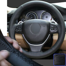 Leather Steering Wheel Cover HandDIY Wrap for BMW 5 6 Series 550i 535i 5GT 11-16