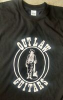 Outlaw Guitars NJ vintage style t shirt blues rock fender guitar sm-5xlg blk
