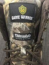 Game Winner Waterproof Boots for men, Size 8.5 Brown Leather Camo MH1002