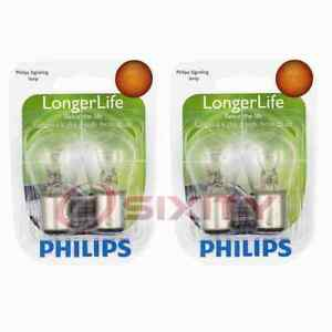 2 pc Philips Parking Light Bulbs for Saturn SC SC2 1991-1996 Electrical hk