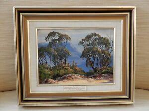 Blue Mountains, Australia by John Emmett signed & dated 1986 & original frame