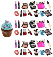 Make-Up eßbar Torten-Bild-Aufleger Party Deko Muffin Geburtstag Mascara Cupcake