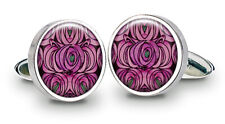 Charles Rennie Mackintosh Rose & Tear Drop Cuff Links - Made in Britain