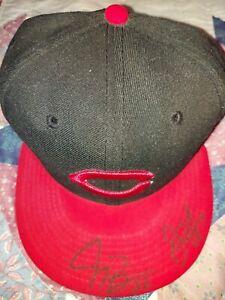 Jay Bruce & Joey Votto Signed Autograph Cincinnati Reds Hat