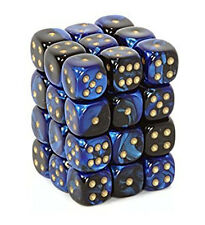 Chessex - Blue-Steel w/white - Dice block (12mm)