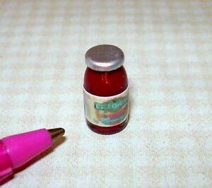 Miniature Glass Jar Brand Salsa Jar w/Silver Lid for DOLLHOUSE, 1:12
