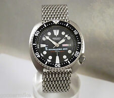 Seiko ScubaPro 450 Turtle Domed Day/Date Shark Mesh Auto Diver's Watch 6309-7040