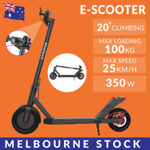 AhaTech Electric Scooter 350W Foldable Portable Adult Kids Segway Bike BLACK